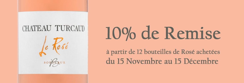 10% de remise sur le rosé